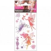 Tetovacie obtlačky farebné detské s glitrami Tri víly 10,5 x 6 cm