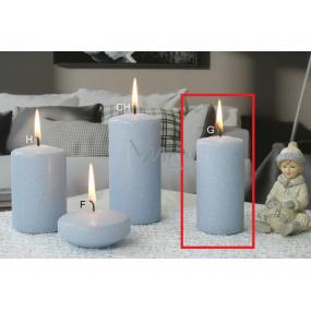 Lima Ice pastel sviečka svetlo modrá valec 50 x 100 mm 1 kus