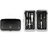 Kellermann 3 Swords Luxusná manikúra 6 dielna Articial Leather z vysoko kvalitnej umelej kože Black 7845 PN