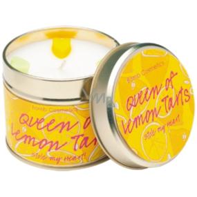 Bomb Cosmetics Citrónová kráľovná Vonná prírodné, ručne vyrobená sviečka v plechovej dóze horí až 35 hodín