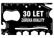 Albi Multináradie do peňaženky 30 Let záruka kvality 8,5 cm x 5,3 cm x 0,2 cm