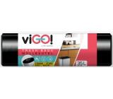 VIGO! Vrecia na odpad čierne, 6 μ, 35 litrov 48 x 57 cm 50 kusov