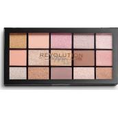 Makeup Revolution Re-Loaded paletka očných tieňov Fundamental 15 x 1,1 g