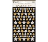 Samolepky Hviezdy 14 x 25 cm 2 archy