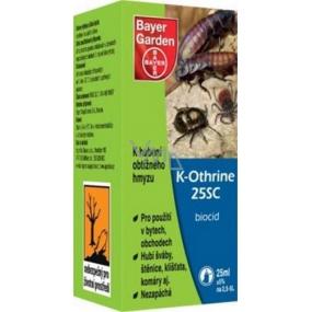 Bayer garden K-Othrine 25SC přípravek proti obtížnému a škodlivému hmyzu 25 ml