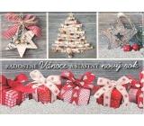 Nekupto Pohľadnice s glitrami Vianočné vzor 1 Radostné Vianoce 15 x 11 cm