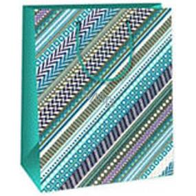 Ditipo Darčeková papierová taška 18 x 10 x 22,7 cm modro šedá