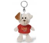 Nici Love You Pes v tričku kľúčenka 10 cm