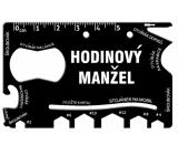 Albi Multináradie do peňaženky Hodinový manžel 8,5 cm x 5,3 cm x 0,2 cm