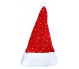 Mikuláš / Santa vianočné čiapky strieborné hviezdy