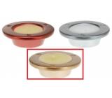 Sviečka v keramike 100x30 Tanierik zlatý 4118