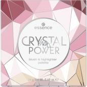 Essence Crystal Power Blush & Highlighter paletka