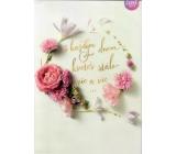 Albi Hracie prianie do obálky S každým dňom kveteš, Ruže kvitnú ďalej Helena Vondráčková 15 x 21 cm