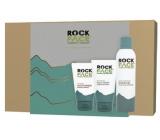 Rockface Extra Hydrating gél na holenie pre mužov 200 ml + Energising umývací gél na tvár 150 ml + Sensitive Moisturiser krém pre citlivú mužskú pleť 100 ml, kozmetická sada