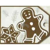 Nekupto Vianočné kartičky na darčeky perník 5,5 x 7,5 cm 6 kusov