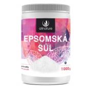 Allnature Epsomská soľ Horčík, síran do kúpeľa uvoľňuje svaly, odbúrava stres, detoxikuje organizmus 1000 g