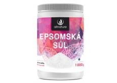 Allnature Epsomská soľ do kúpeľa pre uvoľnenie svalov a odbúravanie stresu 1000 g