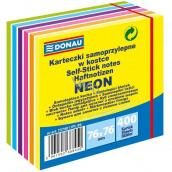 Donau Samolepiace bločky neon-pastelové farby 76 x 76 mm, 400 listov