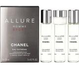 Chanel Allure Homme Sport Eau Extréme toaletní voda náhradní náplň pro muže 3 x 20 ml