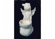 Anděl z porcelánu na svíčku, 12 cm