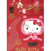 Nekupto Darčeková papierová taška 23 x 18 x 10 cm Hello Kitty Vianočný 1192 WLGM