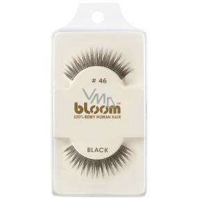 Bloom Natural nalepovací řasy z přírodních vlasů obloučkové černé č. 46 1 pár