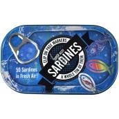 If Tin of Sardines Page Markers Záložky do knihy 50 Sardiniek 45 x 0,5 x 20 mm