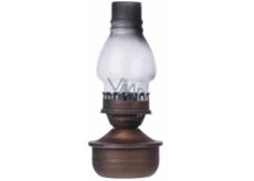 Emos Lampa kovová 1 LED teplá biela + časovač 16 x 32 cm