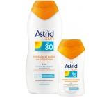 Astrid Sun OF30 Hydratační mléko na opalování 200 ml + Sun OF15 Hydratační mléko na opalování 100 ml, duopack