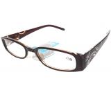 Berkeley Čtecí dioptrické brýle +3,0 hnědé stranice s kamínky 1 kus MC2154
