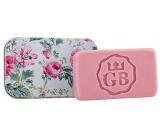 Bohemia Gifts & Cosmetics Ruže - kvety ručne vyrábané toaletné mydlo s glycerínom v plechovej krabičke 80 g