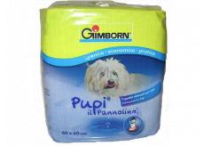 Gimborn Plienky, výchovné podložky pre šteniatka silne savé podložky, možno použiť do psích záchodov 60 x 60 cm 10 kusov