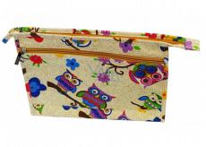 Abella Toaletná kozmetická kabelka 30 x 20,5 x 5,5 cm, vzor krémová NA04