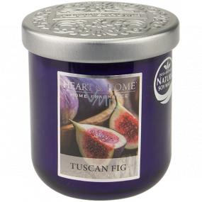Heart & Home Toskánsky figa Sójová vonná sviečka strednej horí až 30 hodín 115 g