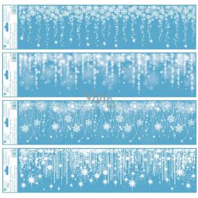 Okenné fólie bez lepidla pruh Padajúce žiara s glitrami 64 x 15 cm