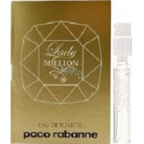 Paco Rabanne Lady Million toaletní voda pro ženy 1,5 ml s rozprašovačem, Vialka