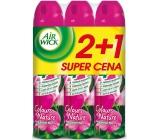 Air Wick Růžové květy středomoří 4v1 osvěžovač vzduchu sprej 3 x 240 ml