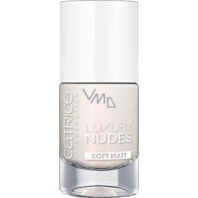 Catrice Luxury Nudes Soft Matt lak na nehty 01 White & Bright 10 ml