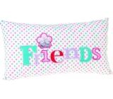 Me to You Vankúš Friends biely 32 x 17,5 x 6,5 cm