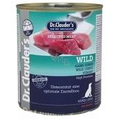 Dr. Clauders Wild Zverina kompletné krmivo 96% mäsa pre dospelých psov 800 g