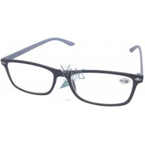 Berkeley Čtecí dioptrické brýle +3 černé šedé stranice 1 kus MC2135