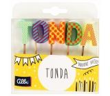 Albi Tortové sviečky meno - Tonda, 2,5 cm