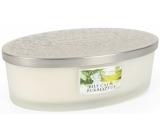 Heart & Home Bílý čaj a eukalyptus Sojová vonná svíčka elipsa 4 knoty hoří až 50 hodin