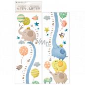 Samolepky na stenu detský meter Slony, do 120 cm