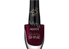 Astor Quick & Shine Nail Polish lak na nehty 302 Glass Of Wine 8 ml
