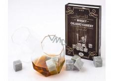 Albi Chladiace kamene do Whisky, 9 chladiacich kameňov a zamatový vačok pre skladovanie