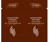 Ziaja Kakaové maslo vyhladzujúci šampón na vlasy 7 ml + vyhladzujúca maska na vlasy 7 ml, sachet