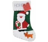 Vianočné pančucha Noel - zelená 45 x 26 cm