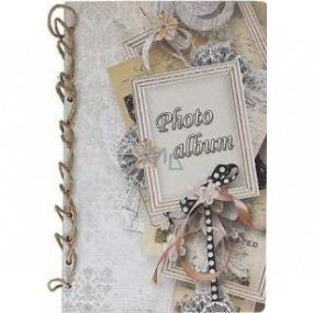 Ditipo Fotoalbum Retro rámček s mašličkou B4 24 x 34 cm