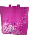 Skladacia nákupná taška s puzdrom - rôzne motívy, rôzne farby 1 kus